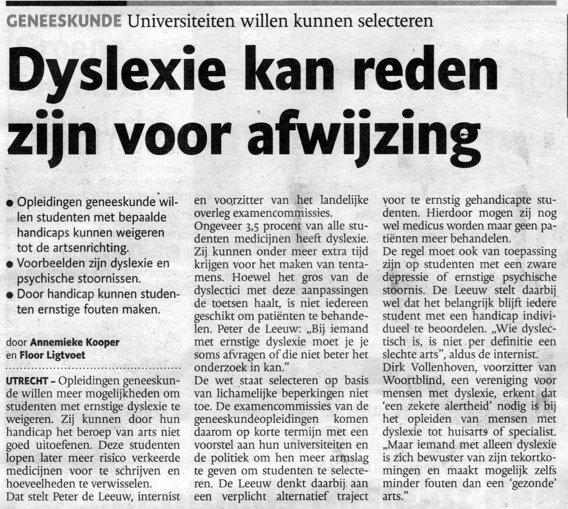 hoe wordt dyslexie ontdekt